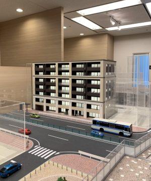 ヴェレーナ横浜反町駅前の模型コーナー