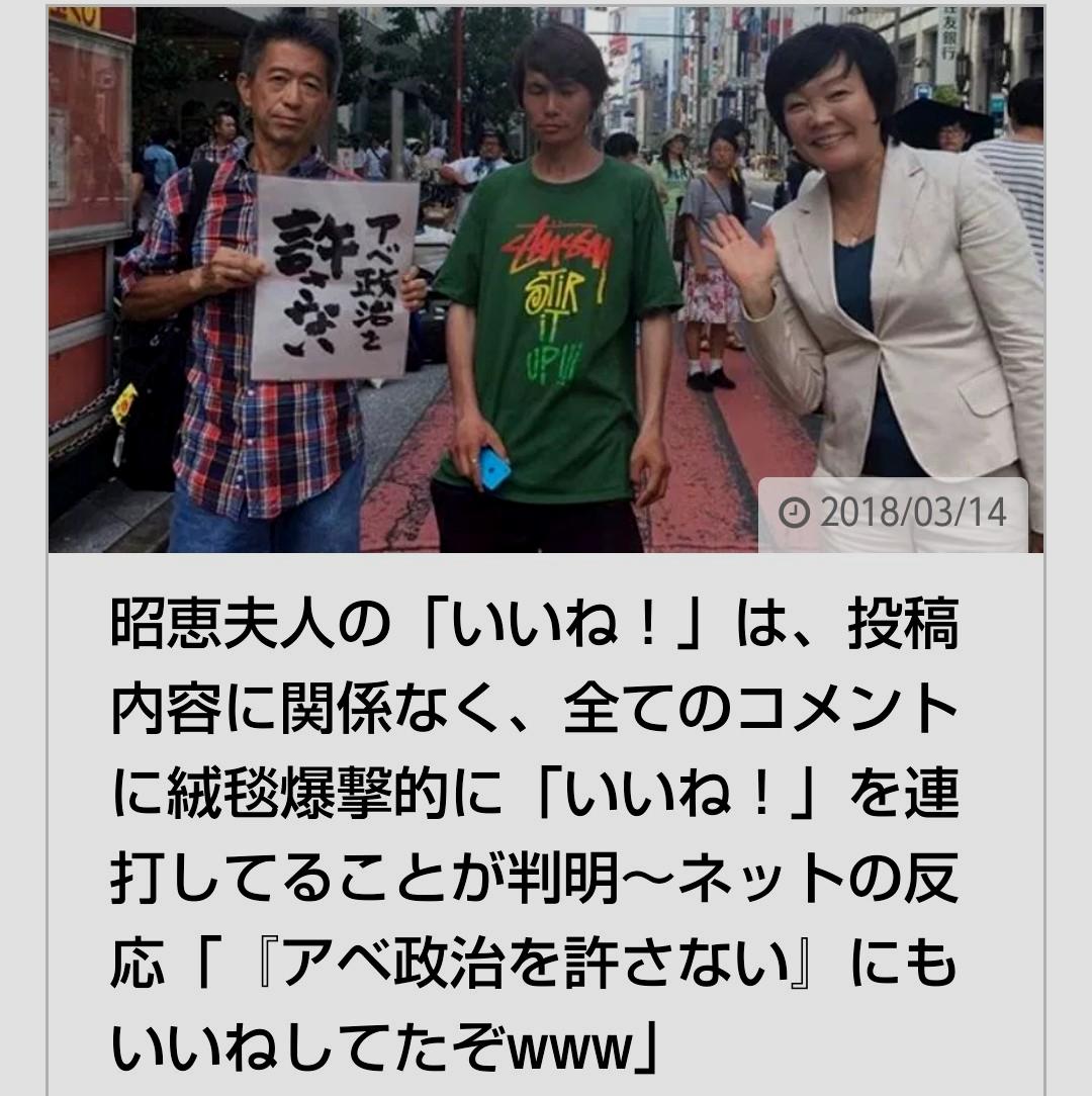昭恵さんは左翼デモに よく陣中見舞いしてたよな 流石左翼仲間