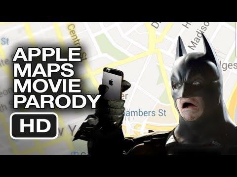 蝙蝠俠黑暗騎士:iPhone 5地圖搞笑版