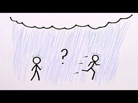 在雨中應該用走的還是用跑的?