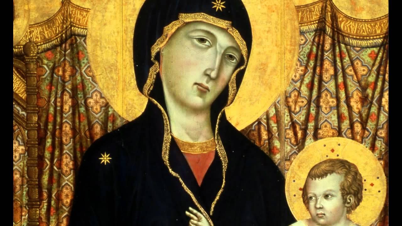 杜奇歐:〈端坐寶座的聖母與聖嬰及六位天使〉