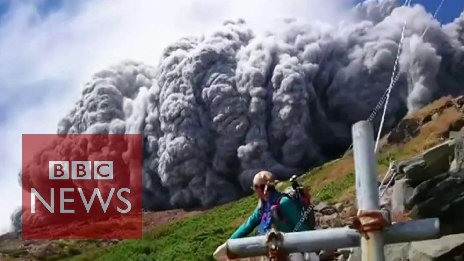 生死一瞬間!御嶽山火山爆發現場直擊