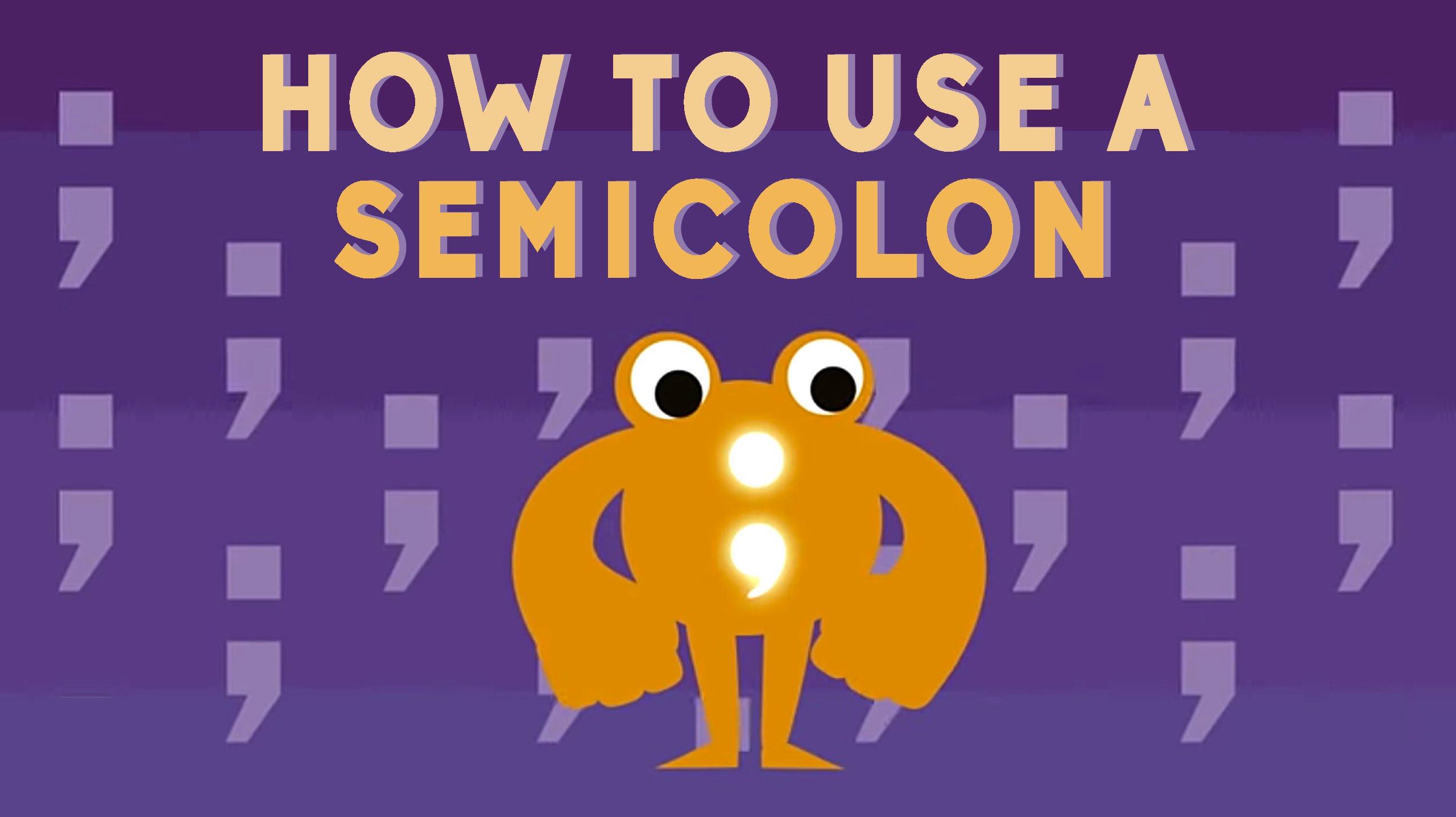 「英文『;』分號怎麼用?」- How to Use a Semicolon
