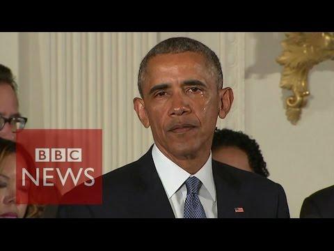 「槍械管制演說,美國總統歐巴馬罕見落淚」- President Obama Tears up during Gun Control Speech