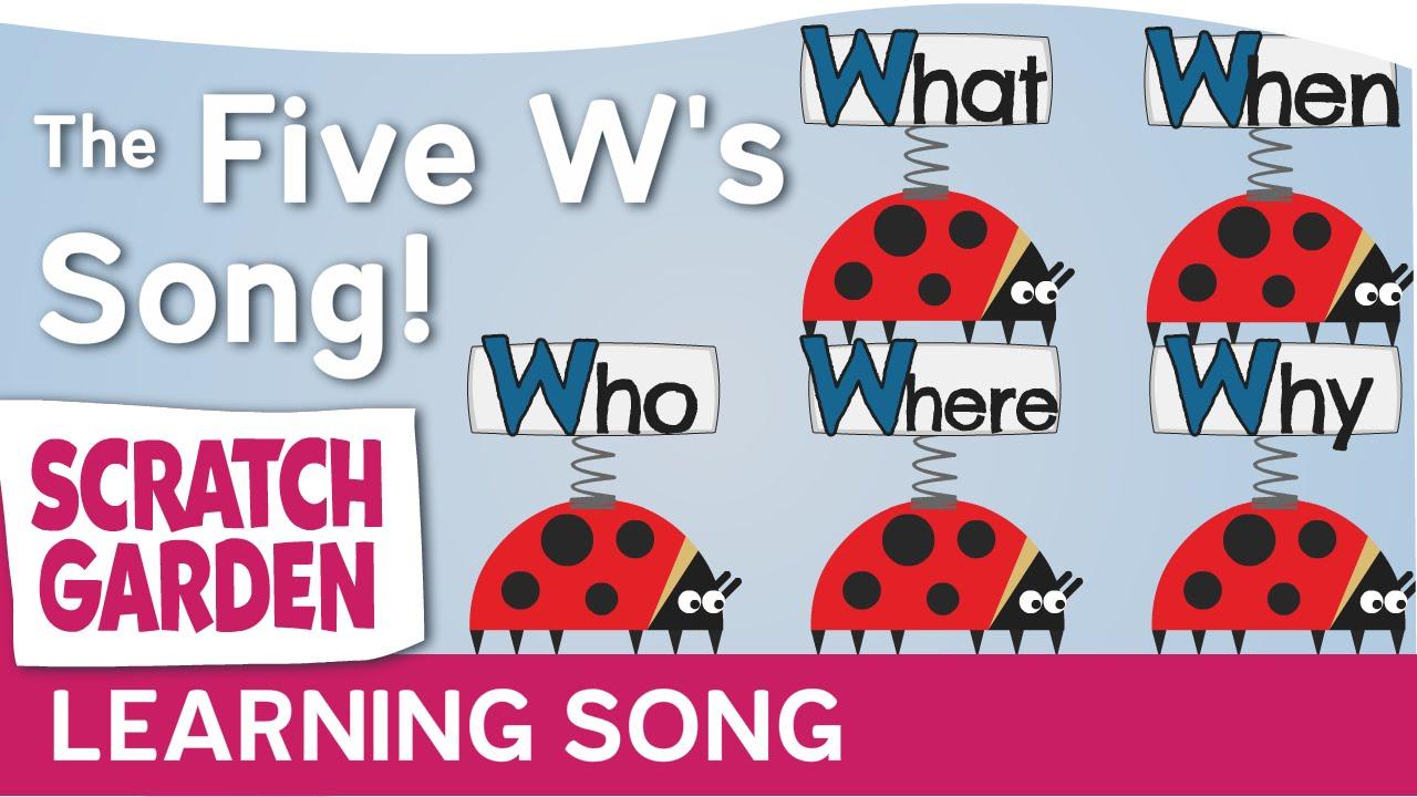 「寫作必備 5W1H,唱歌輕鬆學~」- The Five W's Song