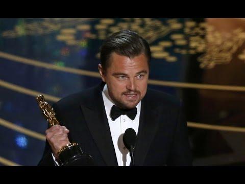 終於等到這一刻!李奧納多 2016 奧斯卡得獎感言