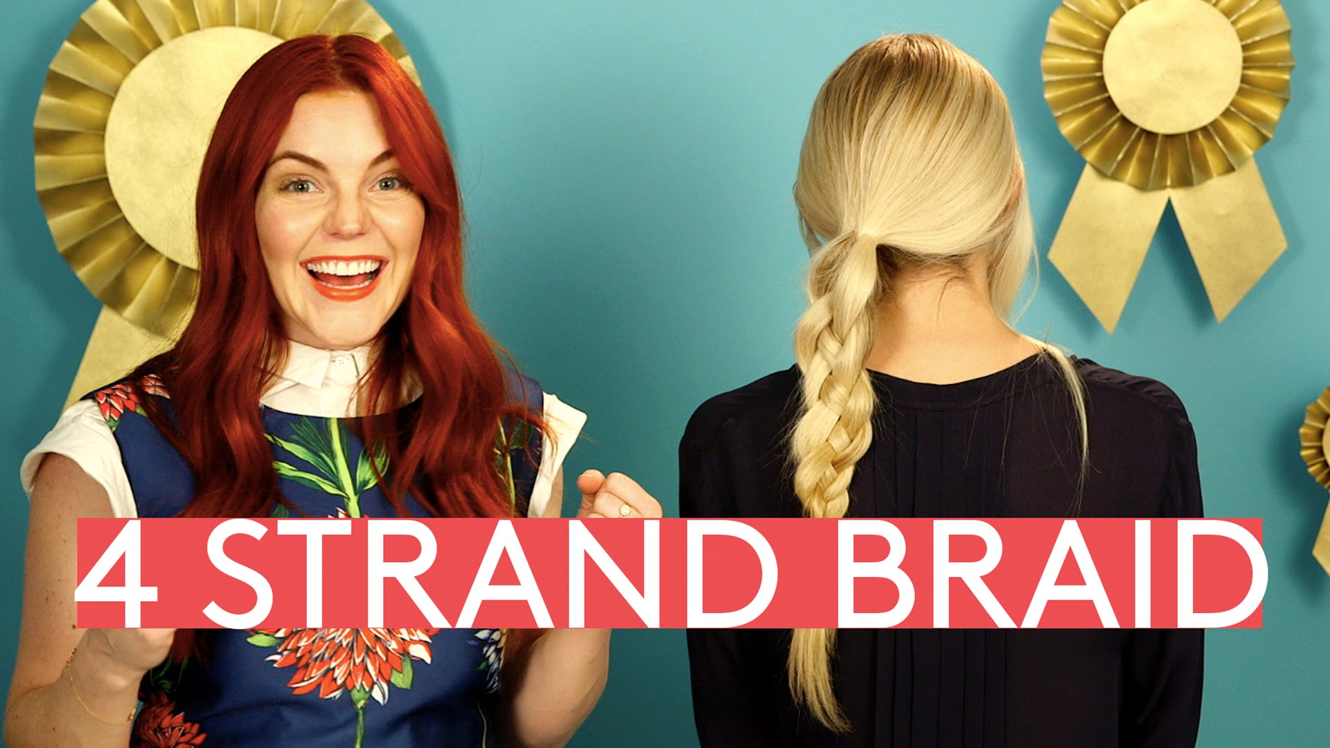 「說難不難:兩分鐘學會綁四股辮!」- Creating the Perfect 4 Strand Braid Using Pinterest