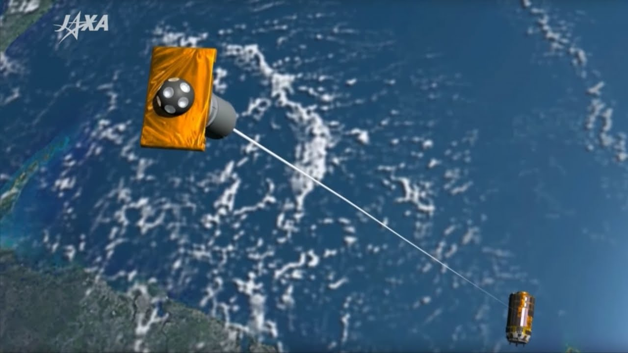 「太空垃圾滿天飛,日本飛船扮演『清道夫』角色」- Japan's Magnetic Tether Could Clean up Space