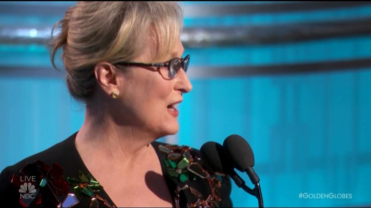 「梅姨金球獎得獎感言,砲轟川普火力全開」- Meryl Streep's Golden Globes Speech