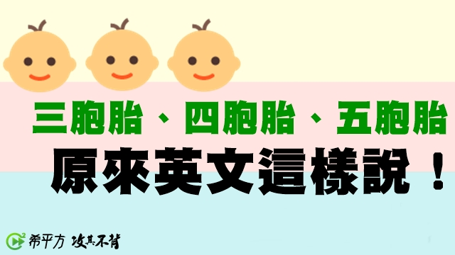 雙胞胎 英文
