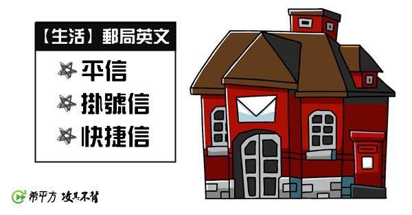 【多益高分達人】『平信』、『掛號信』、『快捷信』,郵局必備英文!