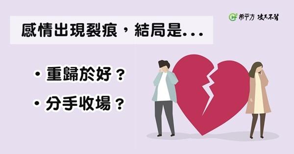 感情出現裂痕!『分手、和好』,英文怎麼說?