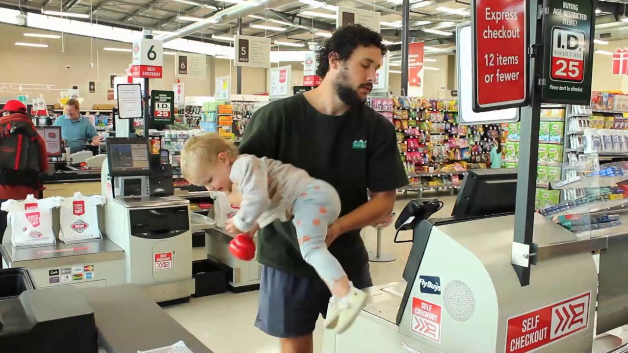 【崩潰奶爸】如何帶著寶寶上超市買菜