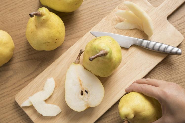 未成熟の洋梨(ラフランス)には毒素あり