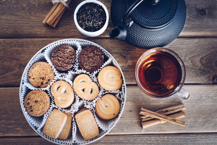 紅茶 茶葉 クッキー カフェイン