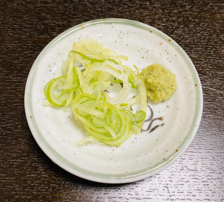 戸隠そば_薬味(ネギ・わさび)