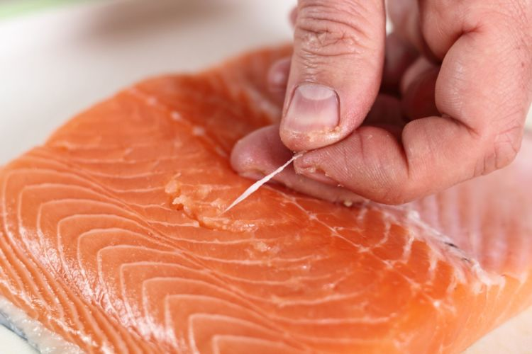 鮭(サーモン)の「注意点」①【骨】