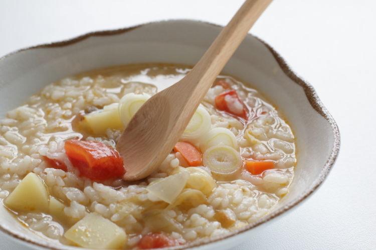 犬のご飯の手作りレシピ~「すぐにできる消化の良い雑炊」編