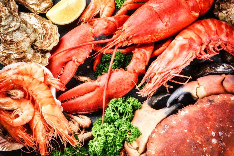 「魚介類」には、貝類・甲殻類・軟体動物も含まれる