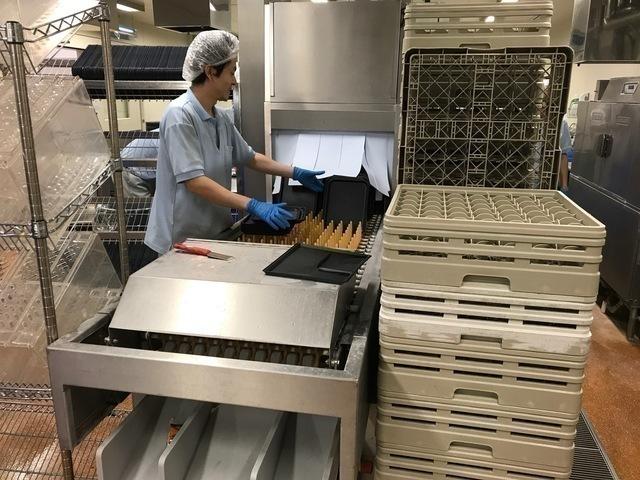 機内食工場スタッフ(食器や用品の洗浄)