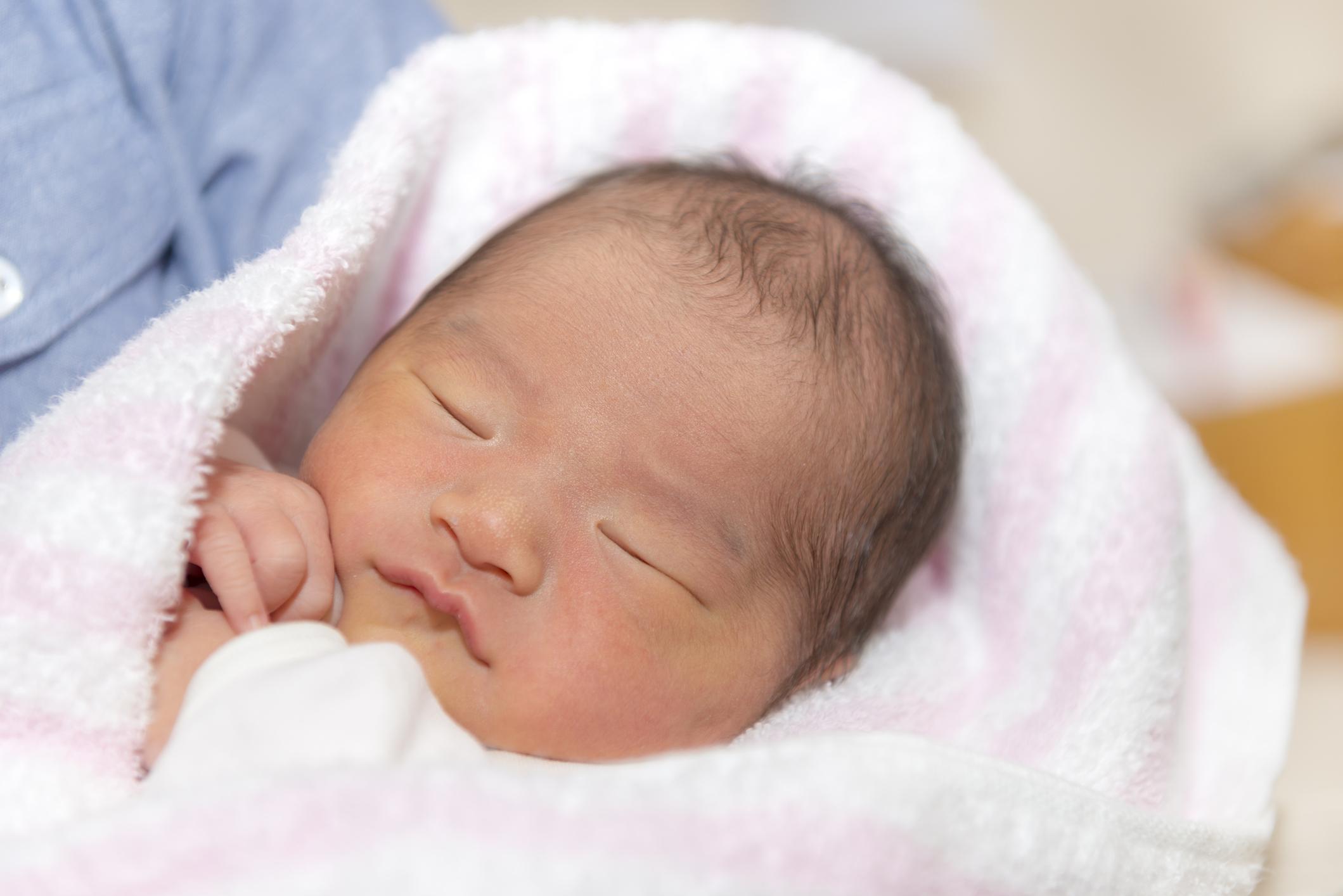 赤ん坊の顔