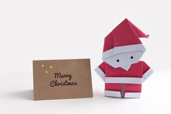 サンタクロースとメッセージカード