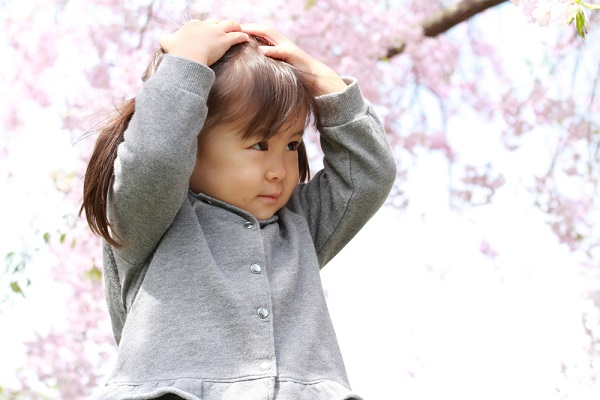 4月の1歳児の写真