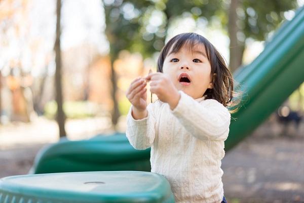 10月の2歳児の写真