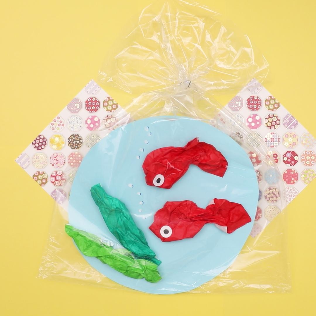 【動画】折り紙で簡単製作。夏祭りで定番の金魚すくいの作り方