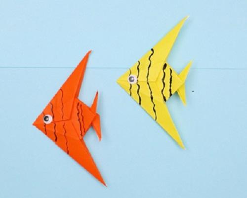 【動画】折り紙でエンゼルフィッシュを作ってみよう