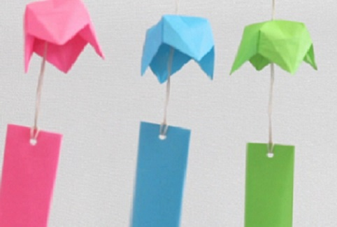 【動画】夏を涼しく、折り紙を使って風鈴を作ろう