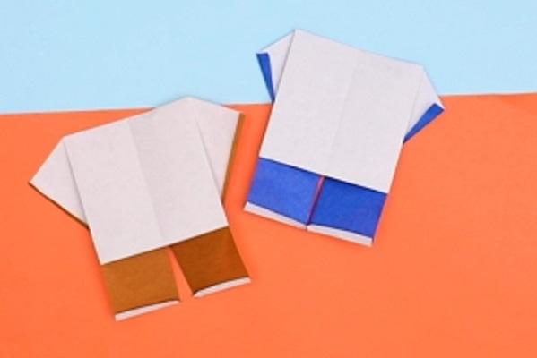 【動画】折り紙で小さくてかわいい体操着を作ってみよう