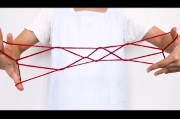 【動画】あやとりレベル3!三段はしごをつくってみよう
