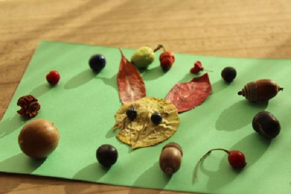 保育園や幼稚園の落ち葉製作。1歳児から5歳児の年齢別アイデア