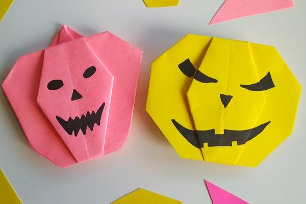 ハロウィンのかわいい折り紙製作。簡単に手作りできるアイディア