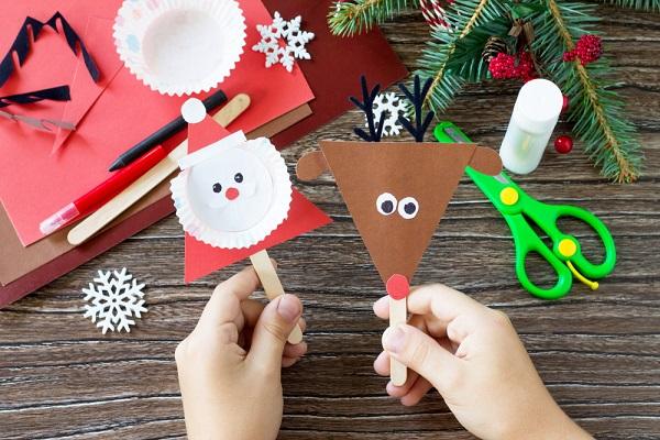 クリスマスの製作アイデア。3歳児や4歳児、5歳児向け帽子やツリーの作り方など