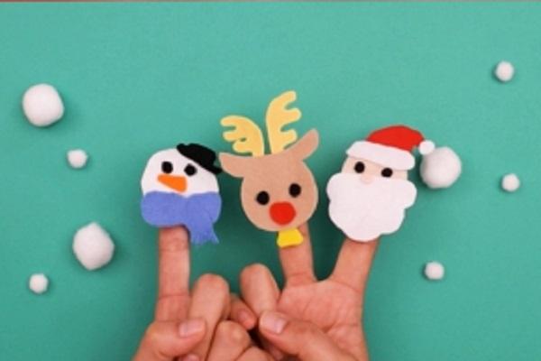 【動画】いつもの手遊びにひと工夫!クリスマス指人形