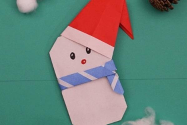 【動画】壁面工作で役に立つ!折り紙でつくるサンタ帽子