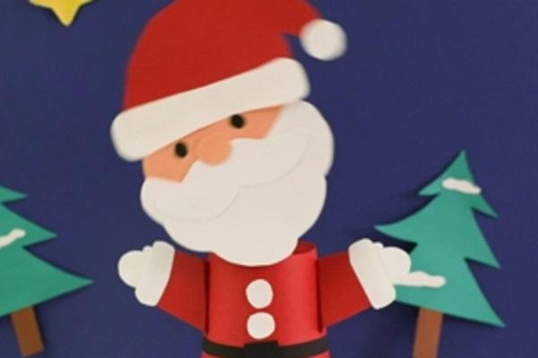 【動画】クリスマス製作。首をフリフリ動かすサンタさんをつくろう