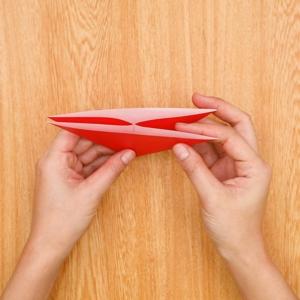 折り紙福袋 中に折りたたむ工程