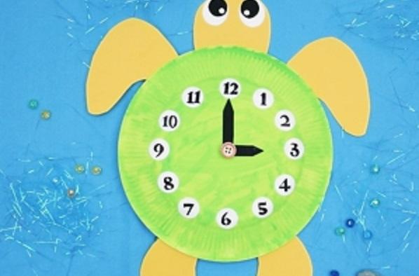 【動画】時計の読み方の導入に活用できる!紙皿でつくる亀時計
