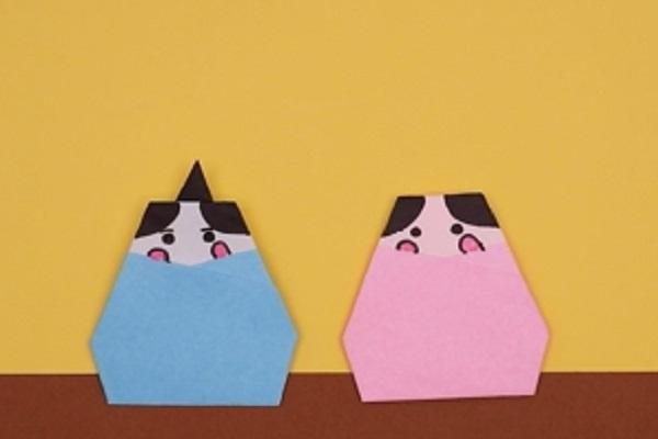【動画】保育のひな祭り製作に活用できる、折り紙でつくるひな人形