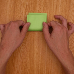 四角に折る工程