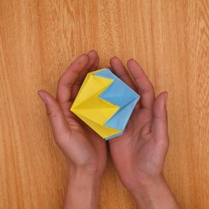2つの折り紙を組み合わせたら完成