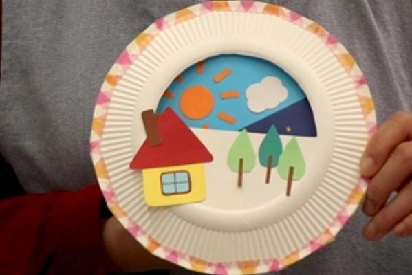 【動画】くるくるまわる!紙皿シアターを作ってみよう