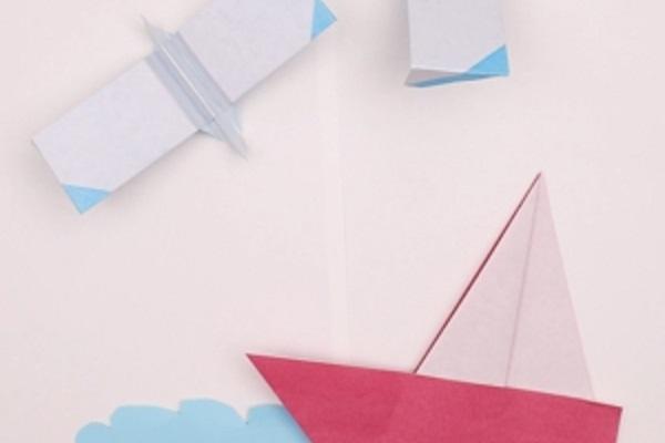 【動画】海をテーマにした壁面製作にも使える!折り紙で作るかもめとヨット