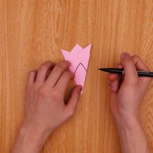 ペンを使って印をつけます