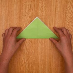 さらに三角折り