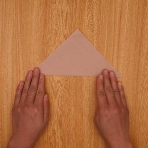 三角折りします