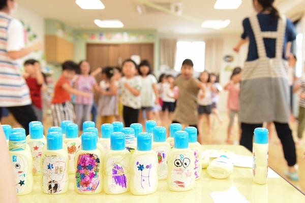子どもたちが作ったマイボトル完成